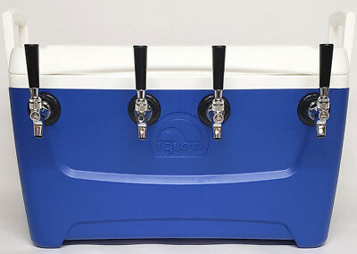 Jockey Box Cooler - 4 Faucet 516 X 50 Stainless Steel Coils 48qt Draft Beer