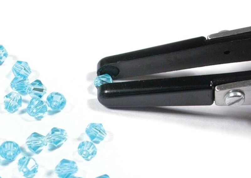 1 Pair Fiber Tip Tweezers Perfect for Picking up Beads and Parts