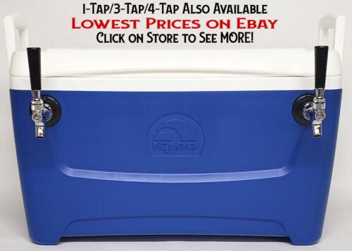 """Jockey Box Cooler - 2 Faucet, 5/16"""" x 50"""