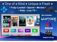 ♕RARE♕ Amazon Fire TV Stick with ✯ Kodi 16.1 ✯ Fresh Apple TV 4 look ✯ + More