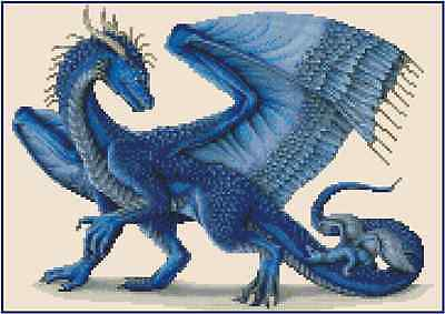 Blue Dragon Counted Cross Stitch Chart No.36-103