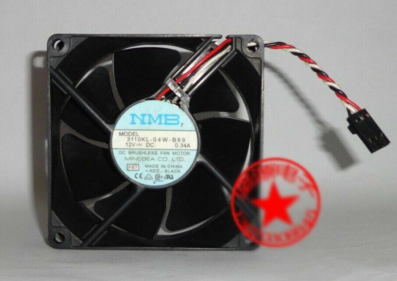 1pcs MNB 3110KL-04W-B69 8025 8CM 12V 0.34A 3-wire Dell server fan 3pin