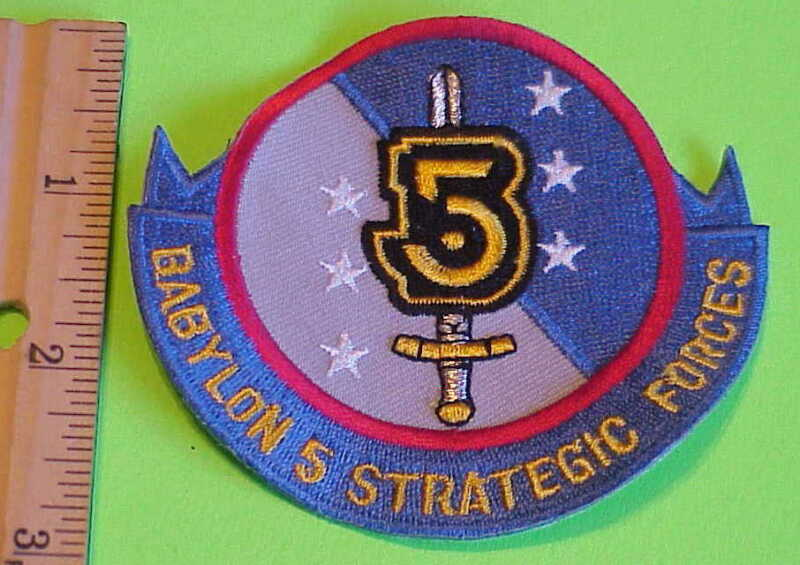 BABYLON 5 STRATEGIC FORCES  SCIENCE FICTION  PATCH  NEW  FREE SHIPPING !!!