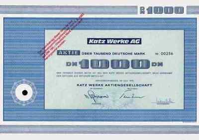 KATZ Werke 1973 Gernsbach Oberkirch Renchtal Pleiderer Neumarkt Großschirma 1000