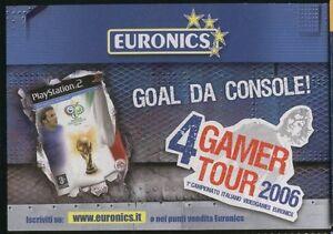 RECLAME-0379-pubblicita-EURONICS-goal-da-CONSOLE-Postkarte-cartolina-postcard-po