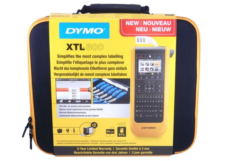NEW Dymo XTL 300 Industrial Label Printer Kit w/ AZERTY Keyboard & Case 1873481