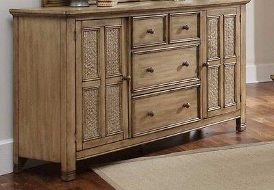 Kingston Isle 4 Drawer Dresser Bedroom Furniture Cabinet Sofa Console Table -