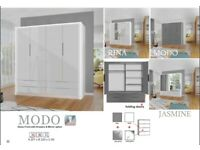 🦋🦋CLEARANCE STOCK MUST GO🦋🦋BRAND NEW MODO SLIDING DOOR WARDROBE🦋🦋AVAILABLE NOW🦋🦋
