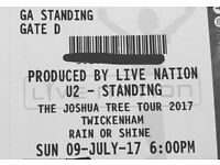 2 x U2 tickets 9th July