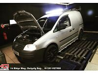 Volkswagen caddy mapped with proof