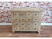 Rustic Apothecary Chest of Drawers Cabinet Antique Style Haberdashery - New - Free Delivery