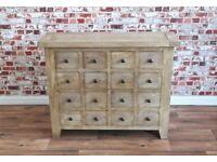 Rustic Apothecary Chest of Drawers Cabinet Antique Style Haberdashery - Free Delivery