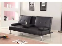'Cinema' Sofa Bed in Choice of 2 Colours (Black or Brown) ***Free UK Delivery***