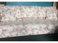 Flower print fabric 3 seater sofa from wayfair £150ono