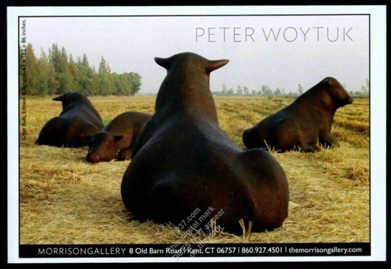 2008 Peter Woytuk cattle cow bull sculpture photo vintage print ad