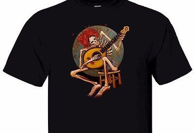 Vintage Grateful Dead Skelett mit Gitarre Herren Schwarz T- 640