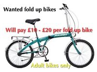 Any unwanted fold up bikes