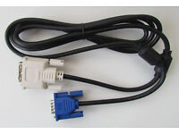 New DVI to VGA monitor cable (2m, 6ft)