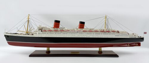 """RMS Queen Elizabeth Handcrafted Ocean Liner  Ship Model 40"""""""