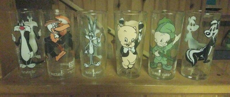 1973 Looney Toon Glasses Lot Of 6