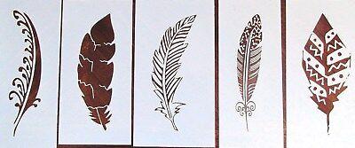 Feather Stencil/Template 5 Pack Reusable See Description