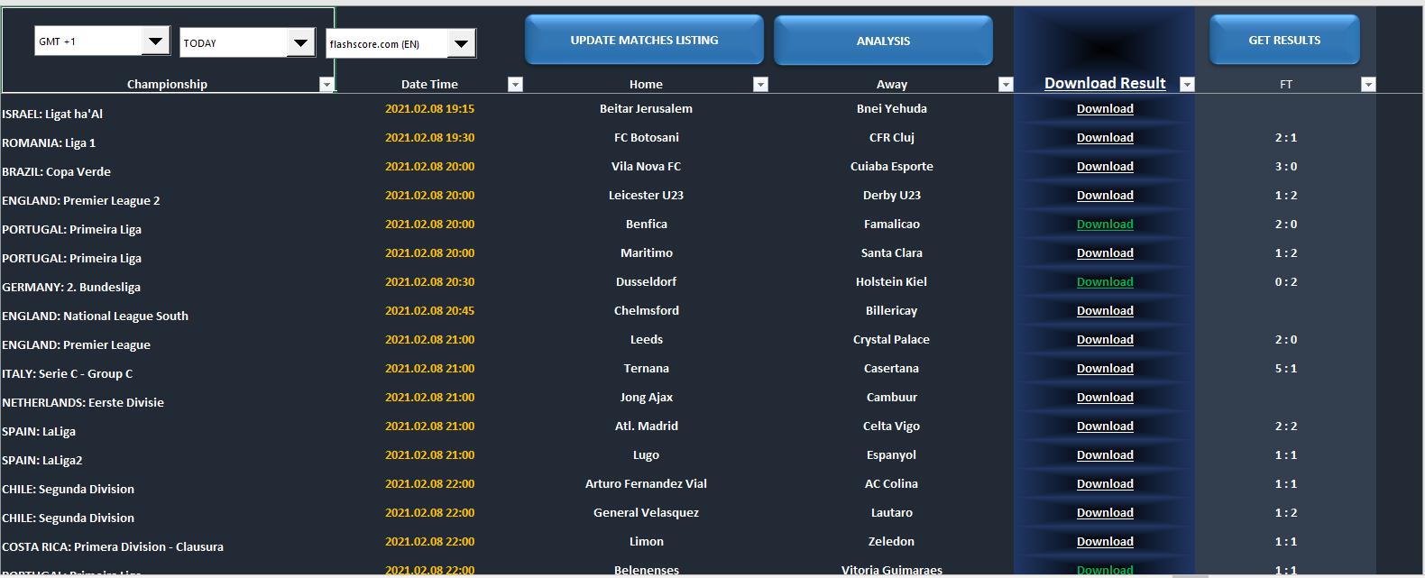 Profi Sportwetten Analyse Software Fussball Tool Analyzer Football Match