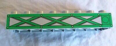 Lego Duplo Cranky piece long gray & green trestle piece used condition