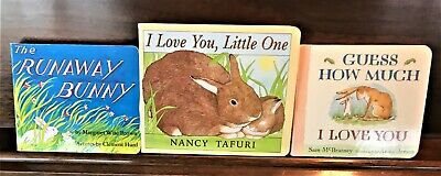 Lot 3 Baby, Toddler, Bunny Board Books, Guess How Much, Runaway Bunny MORE!