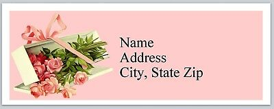 Presents Address Labels - Personalized Address Labels Roses Flowers Present Buy 3 get 1 free (P 426)