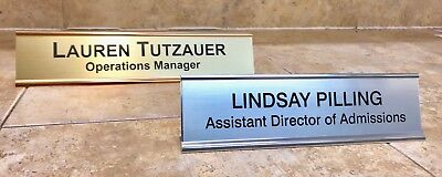 NAME PLATE OFFICE DESK ENGRAVED DOOR SIGN PERSONALIZED EMPLOYEE 2X8, 2X10, 2X12 Engraved Door Sign