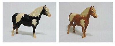 Vintage Breyer Shetland Ponies, Tobiano b/w #21, Palomino/white #22