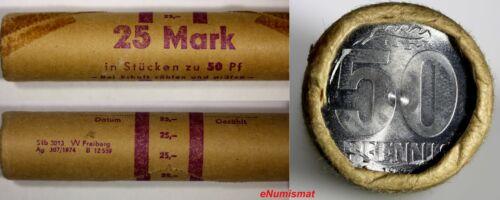 Germany - Democratic Republic GDR 1982 50 Pfennig MINT ROLL (50 Coins) KM# 12.2