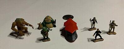 Star Wars Micro Machines Lot Of 7- JABBA THE HUTT+RANCOR+SAIL BARGE+GAMMIE+LUKE