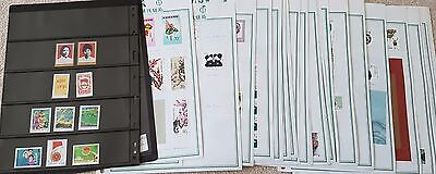 China Collection of Mint Stamps from 1970s Mainly Mid 1980s Many Miniatures 33ps