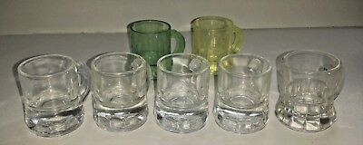 Lot of 5 Glass + 2 Plastic Mini Beer Mug Shot Glasses ~ Mancave Bar Crafts Party (Mini Beer Shot Glasses)