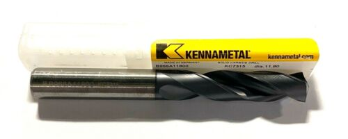 Kennametal 11.80mm Solid Carbide Drill TiAlN Coated 3xD 140° KC7315 1997391