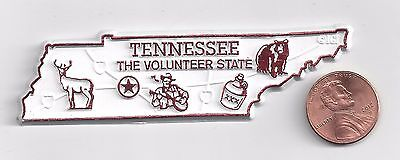 """TENNESSEE  """" THE VOLUNTEER  STATE""""  TN  OUTLINE MAP MAGNET     NEW"""