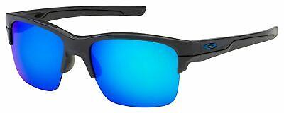 OO9316-04 Mens Oakley Thinlink Sunglasses - Dark Grey - Sapphire Iridium