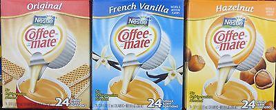 Nestle Carnation Coffee-Mate Creamer 24 Single Serve FLAVOR CHOICES PICK ONE Carnation Coffee Mate Coffee Creamer