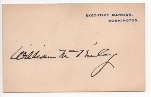 William McKinley signed Executive Mansion card