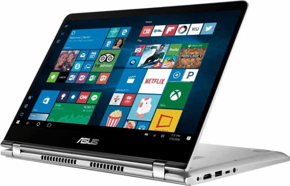 """New Asus 2-in-1 14"""" FHD Touchscreen Laptop, Intel Quad-core"""