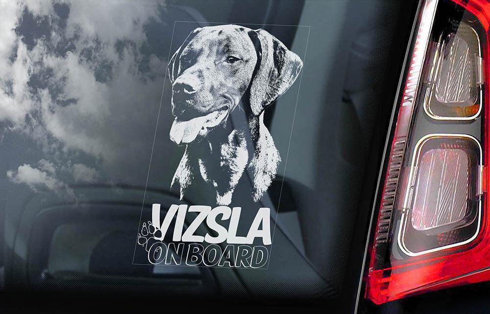 V02 Hungarian Pointer Window Bumper Sign Decal Gift Pet VIZSLA Car Sticker