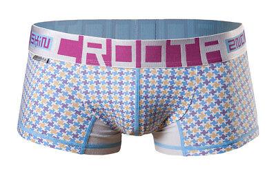 "CROOTA Mens Underwear Boxer Briefs, Low-Rise Hipster, Blue, M (Waist 29-31"")"