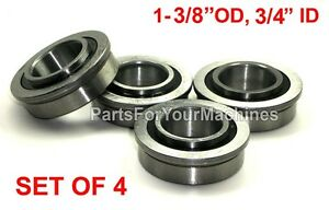 LOT OF 4, FLANGED BEARINGS 1-3/8