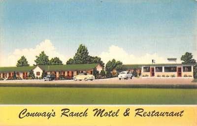 Williamston North Carolina Conways Ranch Motel Antique Postcard K82305 Carolina Ranch