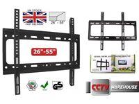 TV Wall Bracket Mount Slim Flat For 26 30 32 37 40 42 50 55 inch LCD LED Plasma