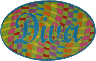 2x4 Fun Rugs Multi-Color Pictorial Door Mat Oval FTS-158 - A
