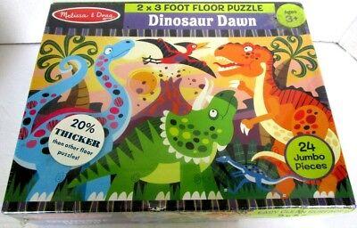 - Dinosaur Dawn 2 X 3 Foot Floor Puzzle by Melissa & Doug  Model # 4425 New Sealed