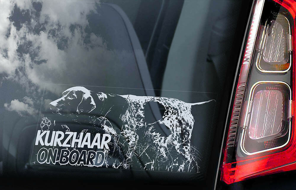 German Shorthaired Pointer Dog Window Decal Sticker J608 Etsy