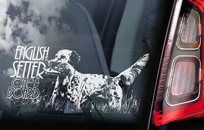 English Setter Sticker (English Setter on Board - Car Window Sticker - Dog Sign Decal Gundog Gift -)